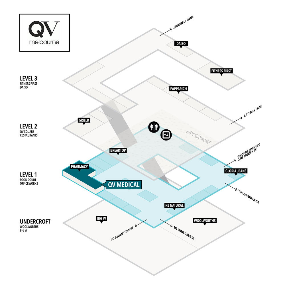 QV Medical Swanston St Location Map
