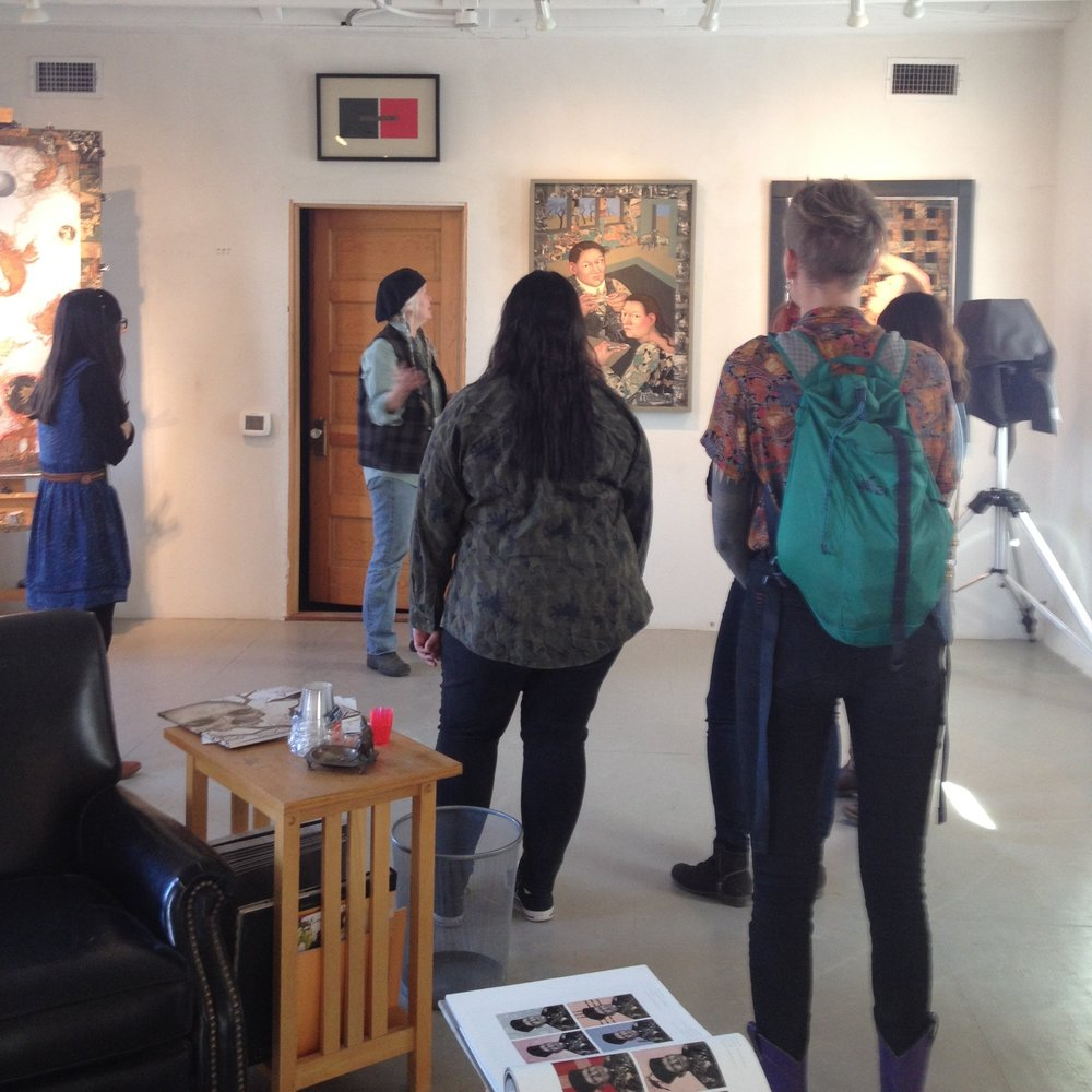 After school studio art students visit marfa artist julie speed in her studio. photo credit: rae anna hample