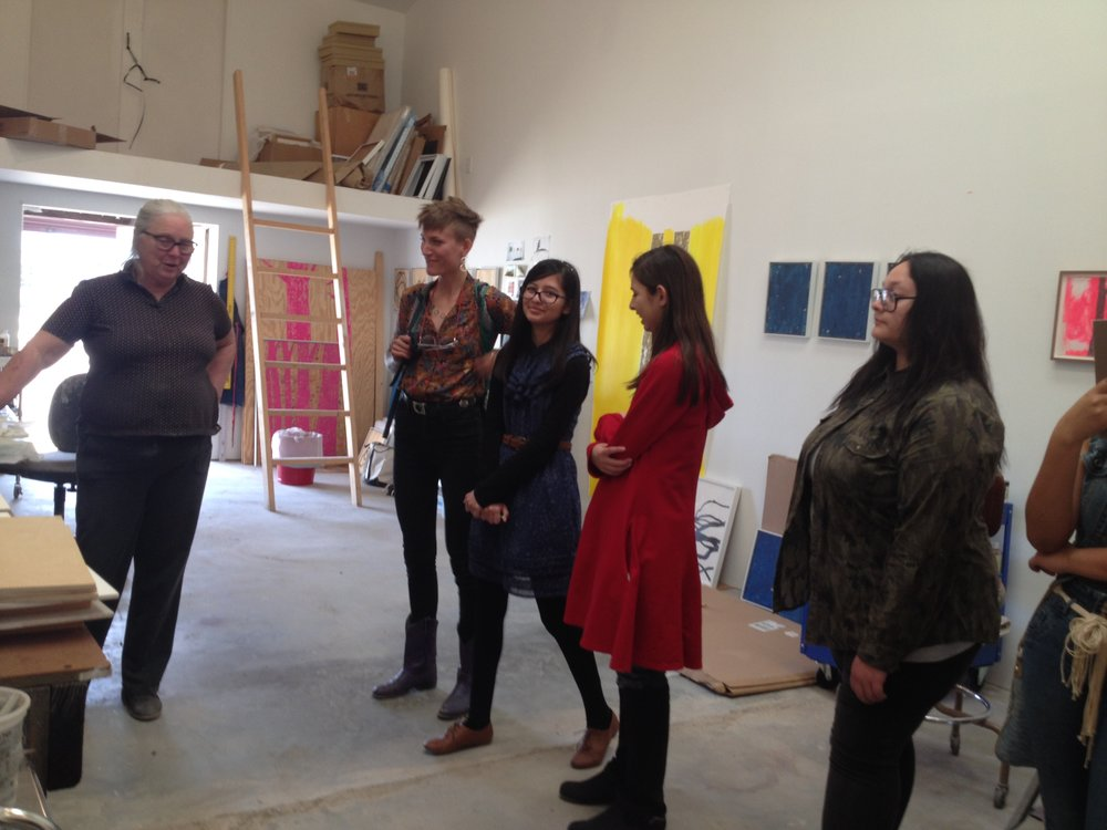 After school studio art students visit marfa artist malinda beeman in her studio. photo credit: rae anna hample