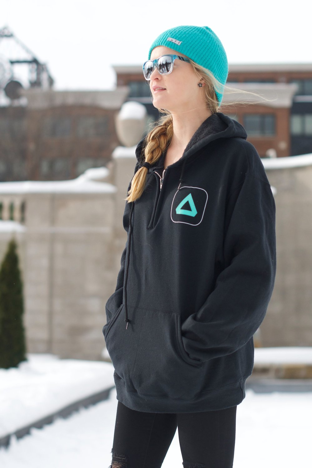 Quarter Zip  - $35▵ Glow-in-the-dark▵ Machine-washable▵ Comfortable and stylish
