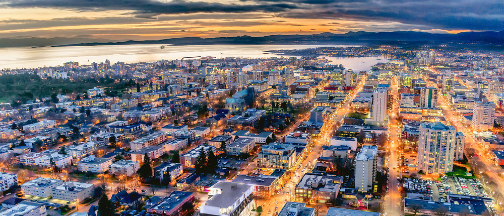 sky view of victoria bc