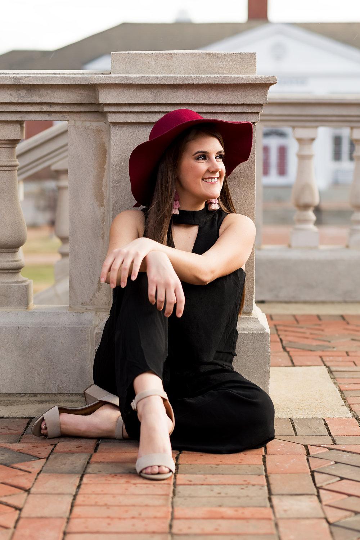 auburn fashion red hat senior portrait.jpg