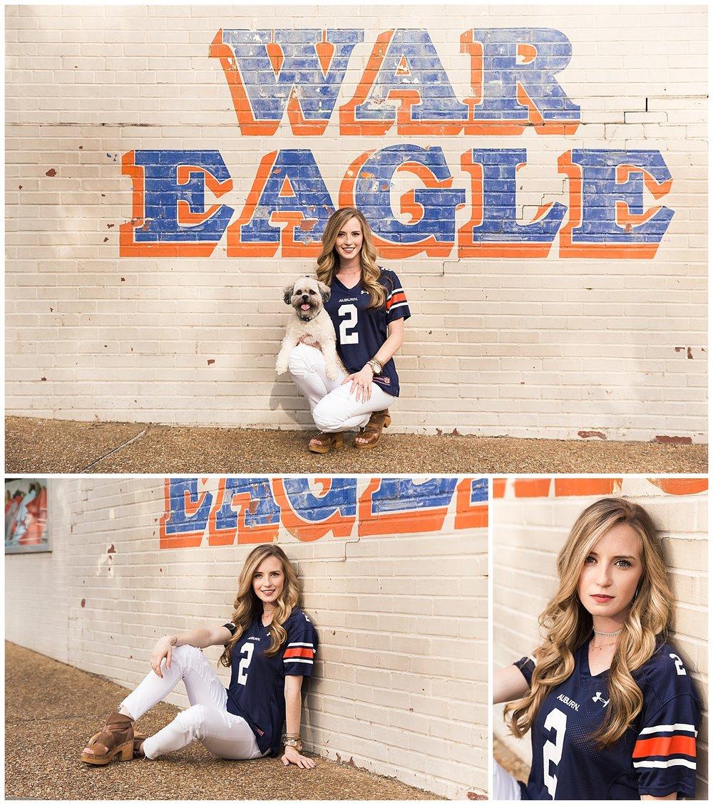 auburn war eagle university graduation photos - lauren beesley photography