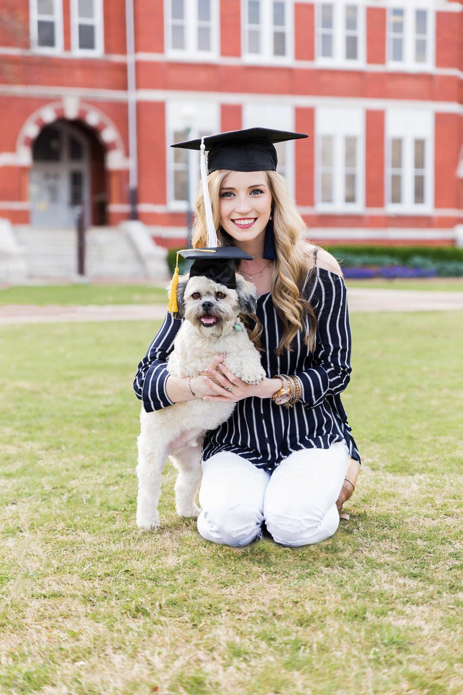 auburn graduation photos with dog