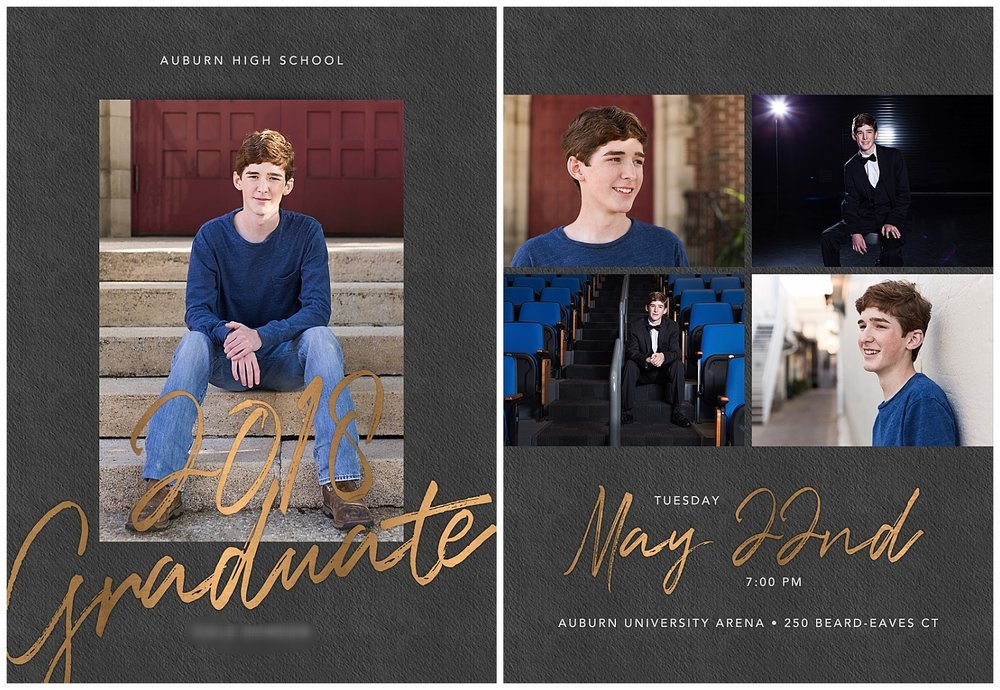 auburn high school graduation announcement lauren beesley photography