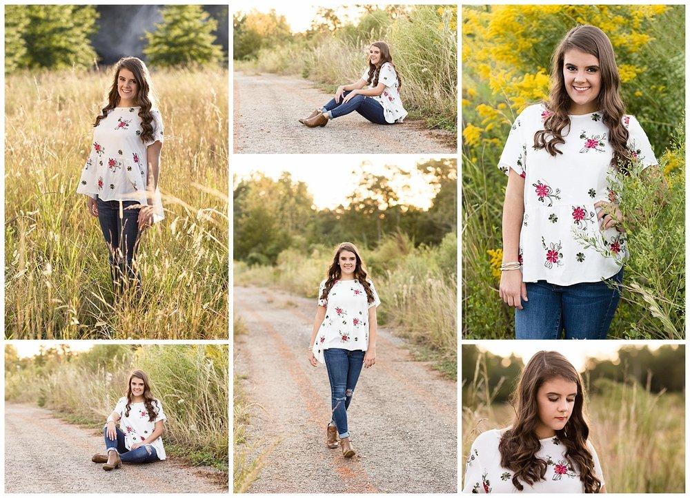 auburn alabama senior pictures in a field - lauren beesley photography