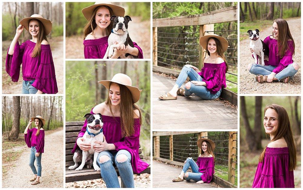 senior pictures with dog auburn al town creek park