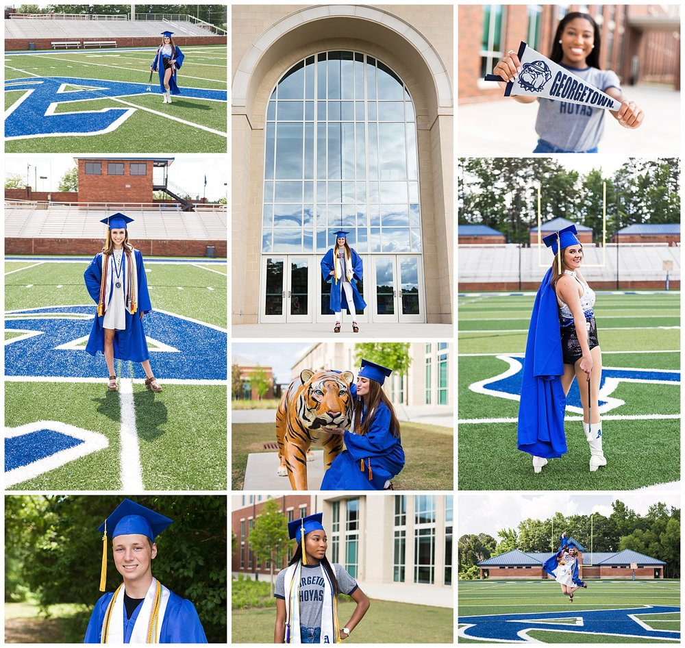 auburn high school cap and gown class of 2018 - lbeesleyphoto