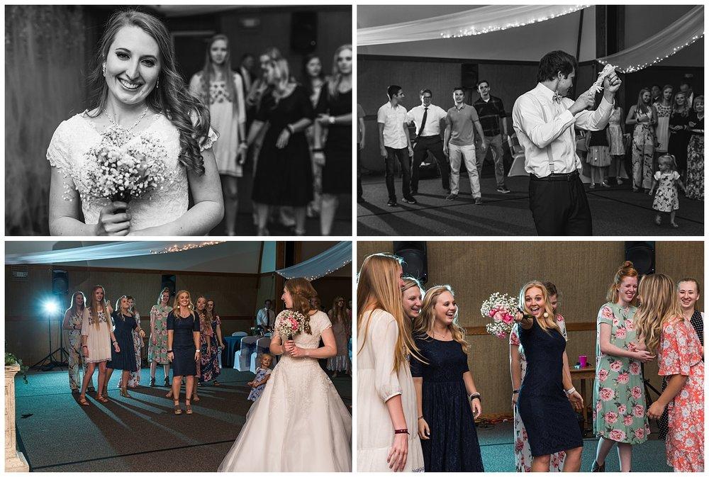 bouquet garter toss auburn wedding reception