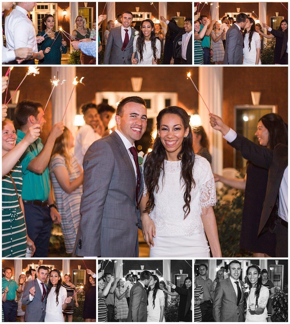 sparkler exit auburn alabama wedding reception photos lauren beesley photography