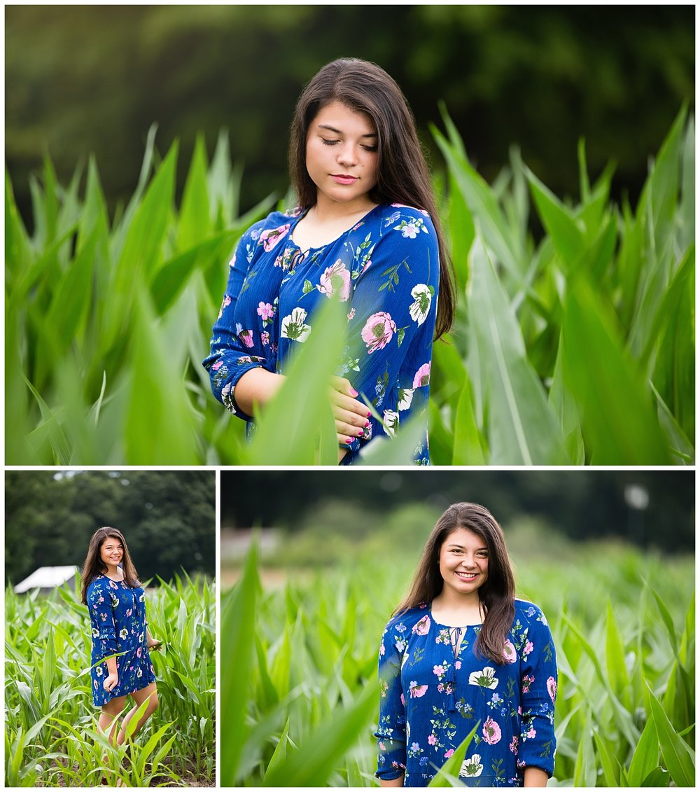 senior photos cornfield auburn alabama