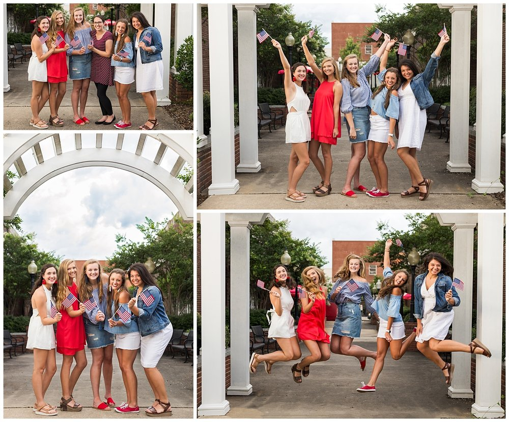 lauren beesley photography senior rep photo shoot downtown opelika july 4th
