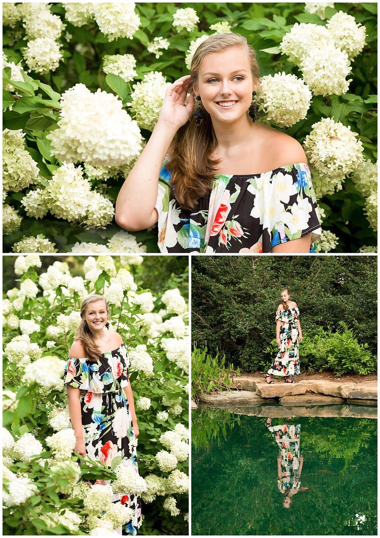 auburn gardens senior pictures flowers