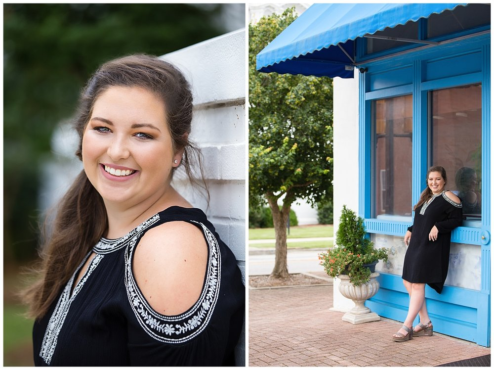 downtown opelika senior photos lauren beesley photography