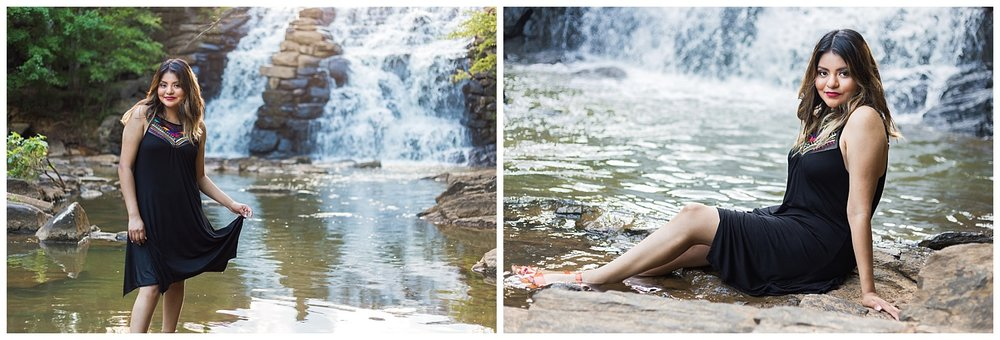 chewacla state park waterfall senior photos lauren beesley photography auburn alabama