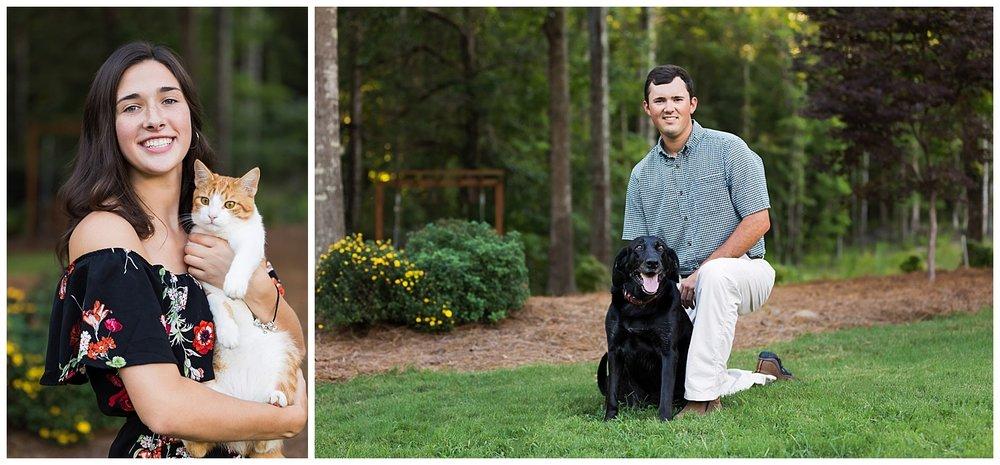 family photos with pets lauren beesley photography auburn alabama photographer