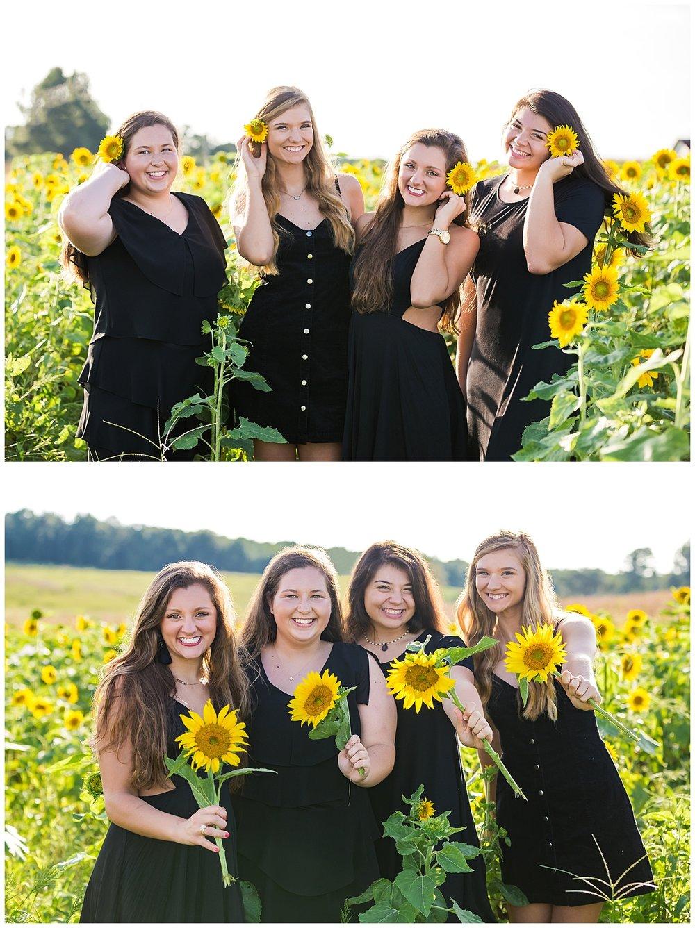 sunflower group photo session senior portraits lbeesleyphoto