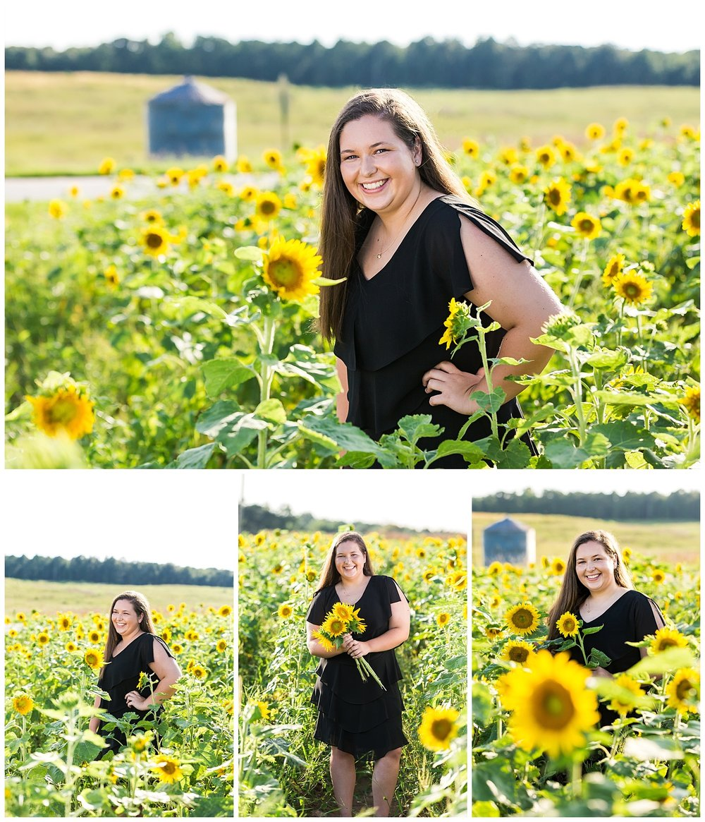 auburn senior photos sunflowers lauren beesley photography