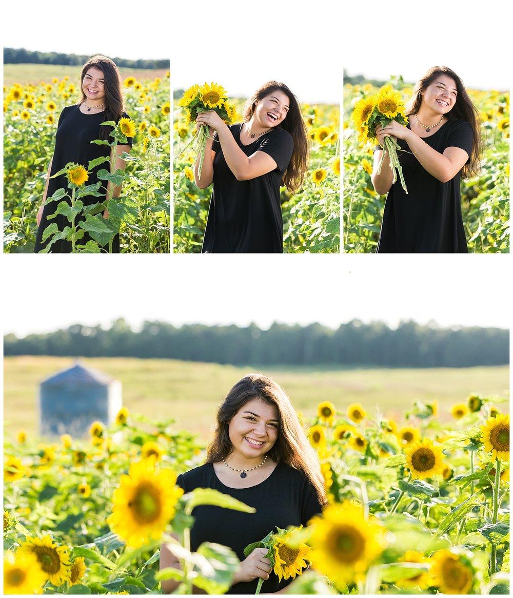 opelika alabama senior photos sunflowers lauren beesley photography