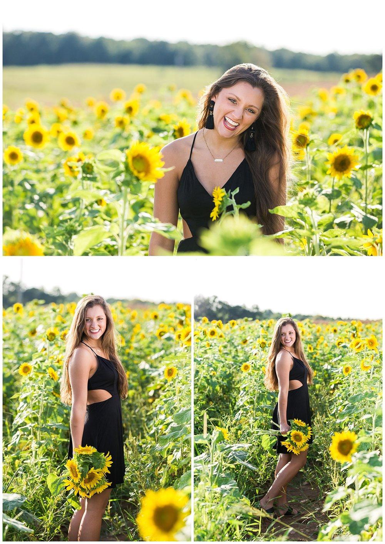 opelika alabama senior portraits sunflowers lauren beesley photography
