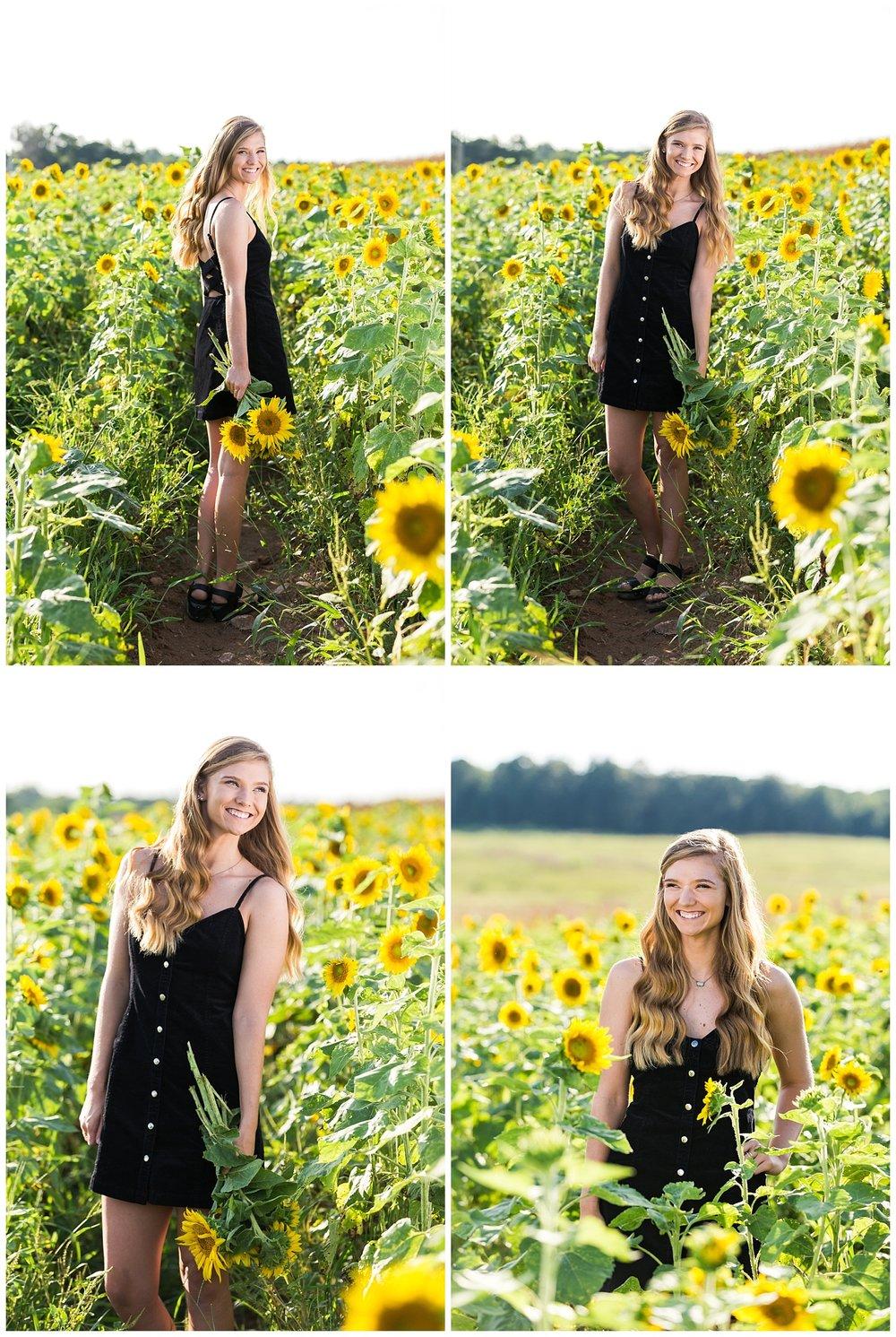 glenwood opelika auburn senior portraits sunflowers lbeesleyphoto