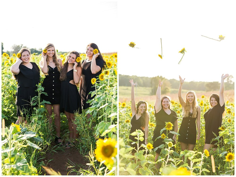 best friend photo shoot senior photos sunflowers alabama lauren beesley photography