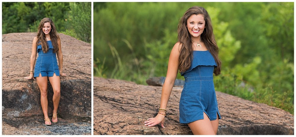columbus senior photos blue denim romper lbeesleyphoto
