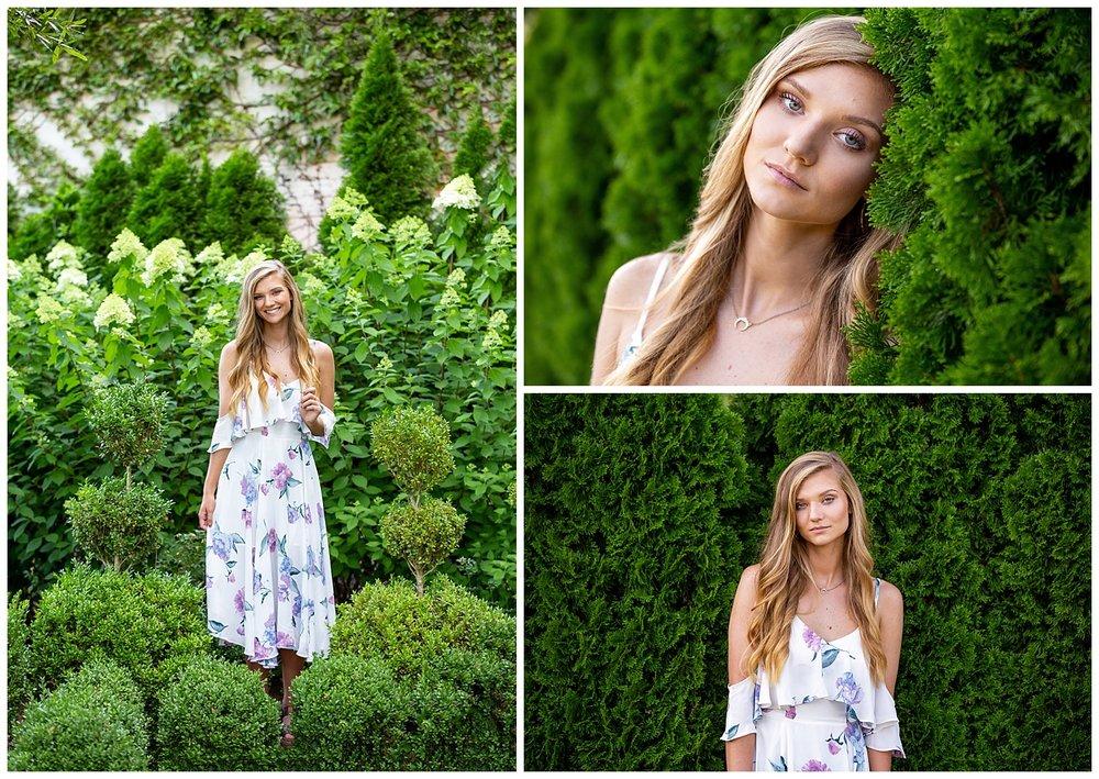 floral dress senior photos lauren beesley photography auburn alabama art museum