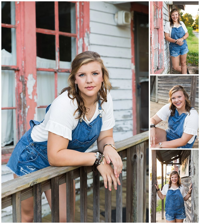 rustic country girl overalls senior photos auburn alabama lbeesleyphoto
