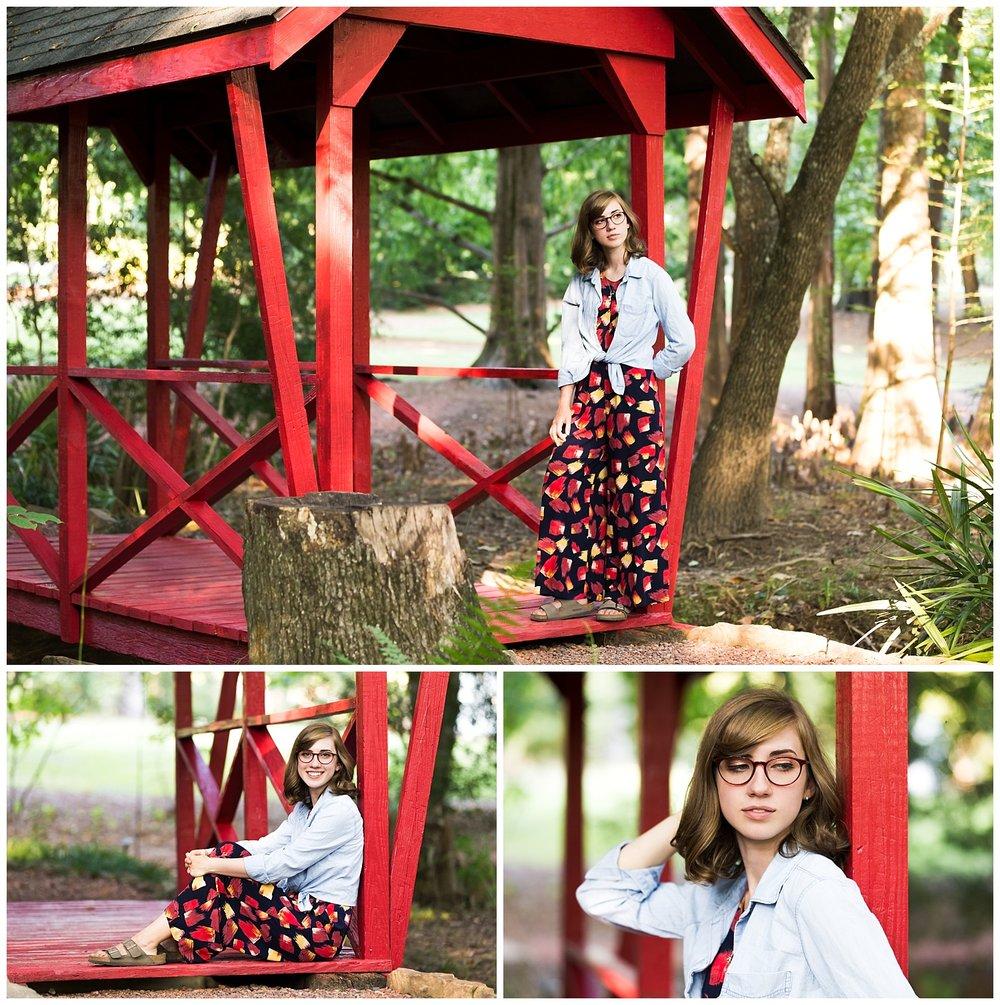 auburn alabama arboretum senior portraits red