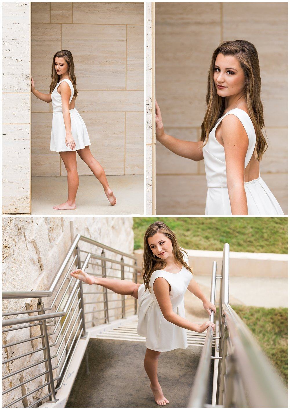 white dance dress senior portraits jazz lyrical contemporary photo session lbeesleyphoto auburn alabama