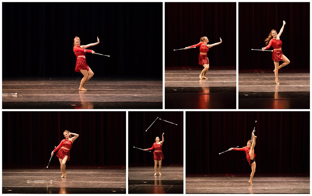 Maddie Lee County Distinguished Young Woman baton twirling