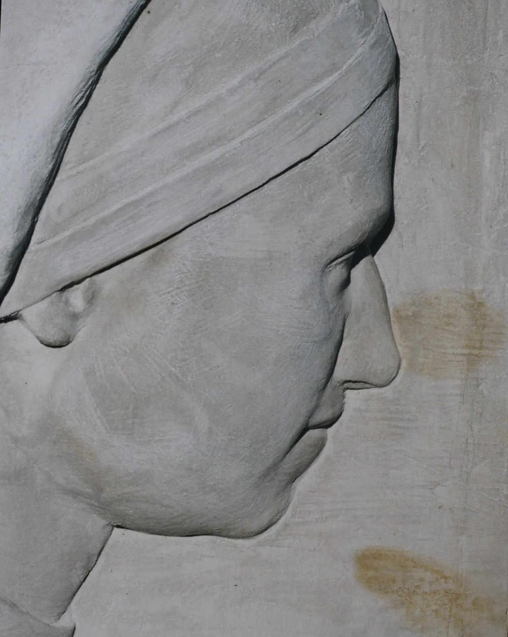 "Detail from ""Nuns in Gaza""   hydrostone."
