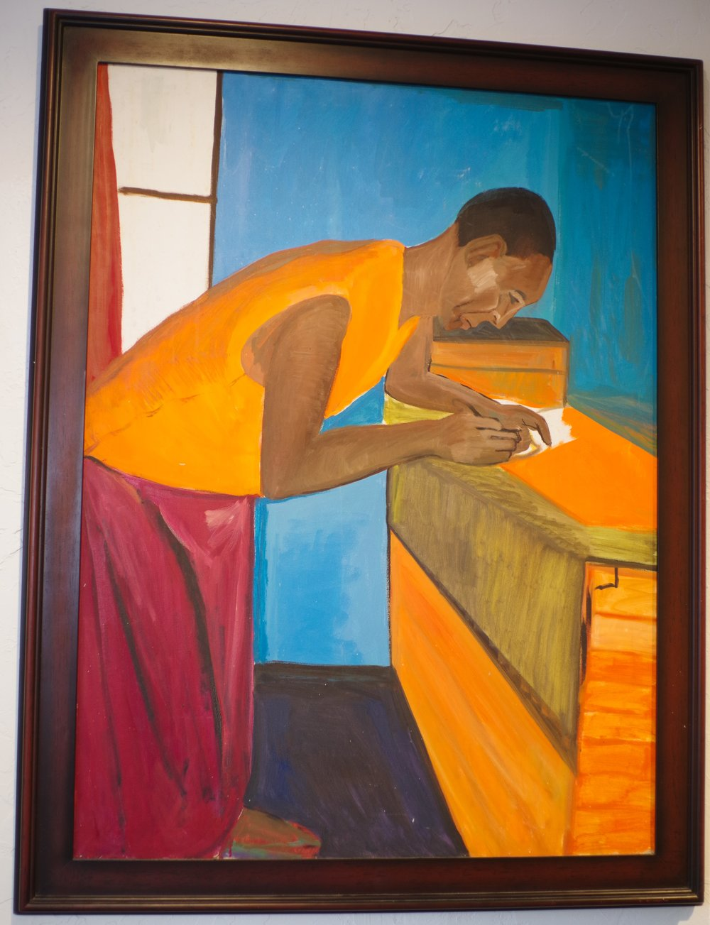 Monk Preparing Books - $6,400