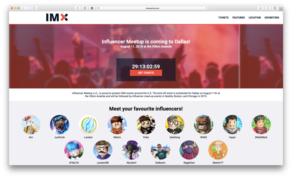 IMX - IMX Events helps connect fans with their favorite creators in a family-friendly setting. Melon Development designed the layout, branding, and frontend code to power this project.