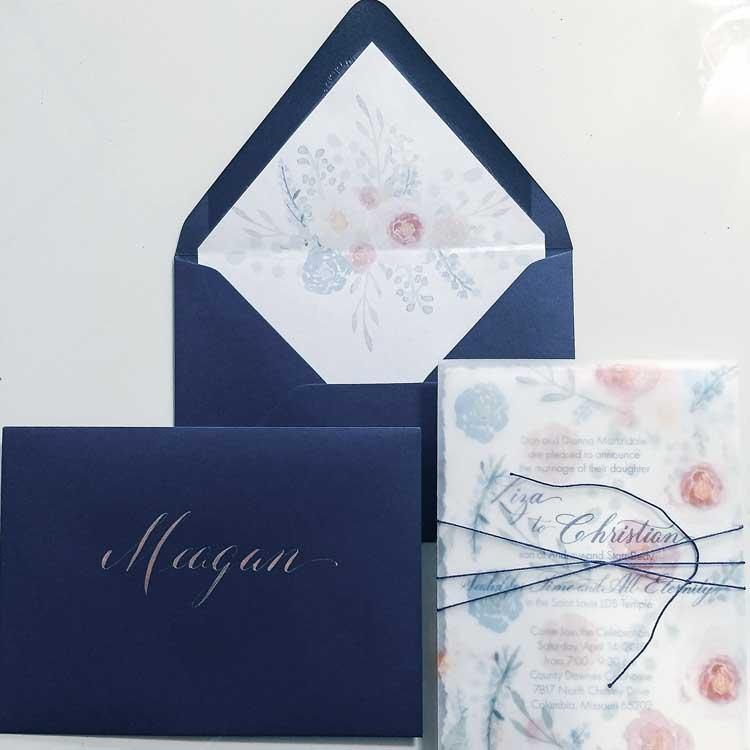 invitation envelope calligraphy envelope liner