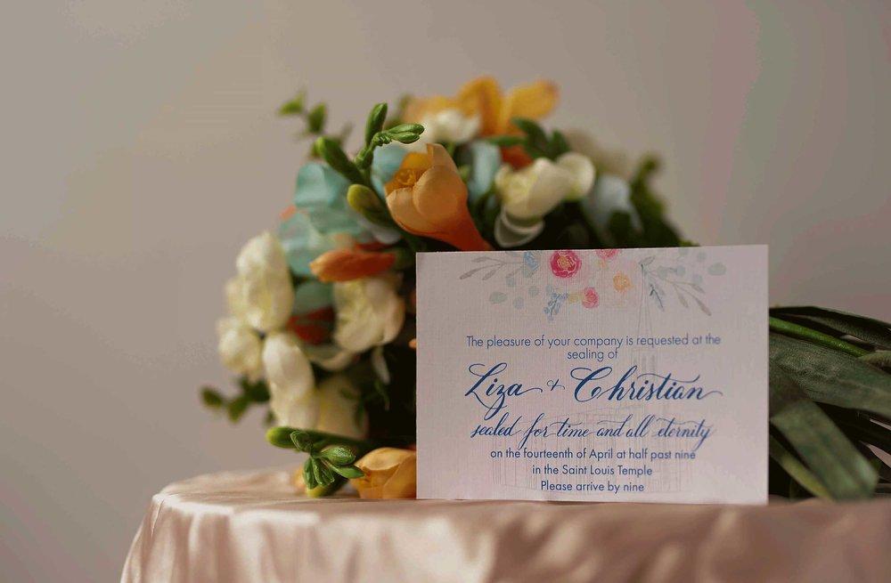 LDS Temple Wedding/Sealing Invitation