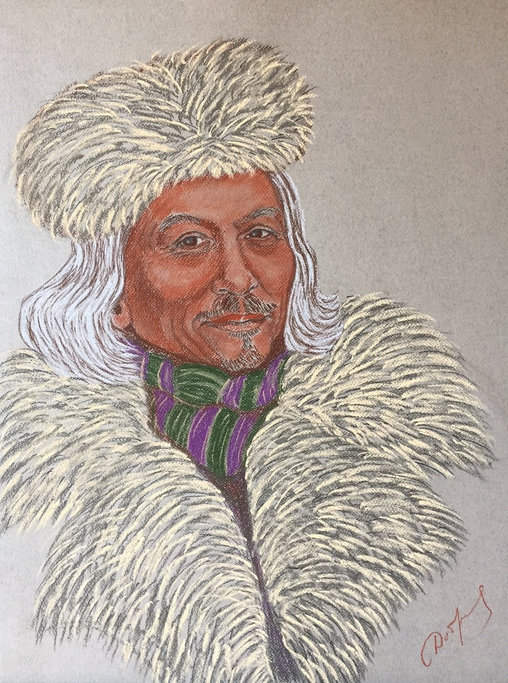 Portrait of Ole Jorgen Hammeken, famous Polar explorer
