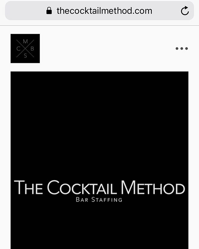 Come check out our newly remodeled website www.thecocktailmethod.com. You can book directly through there with no fuss, no muss, and no confusion! #thecocktailmethod #CMBS #barstaffing #event #events #bartenders #eventbar #party