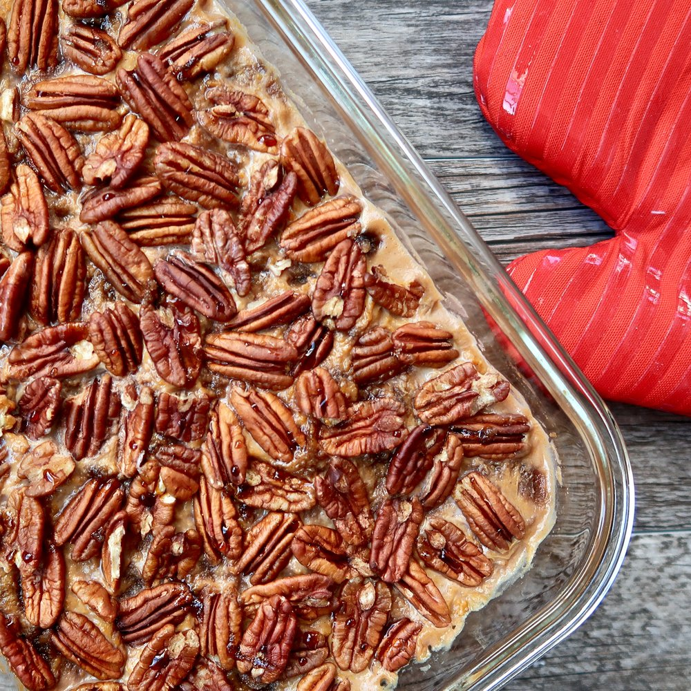 Those toasted pecans though… *heart eyes*