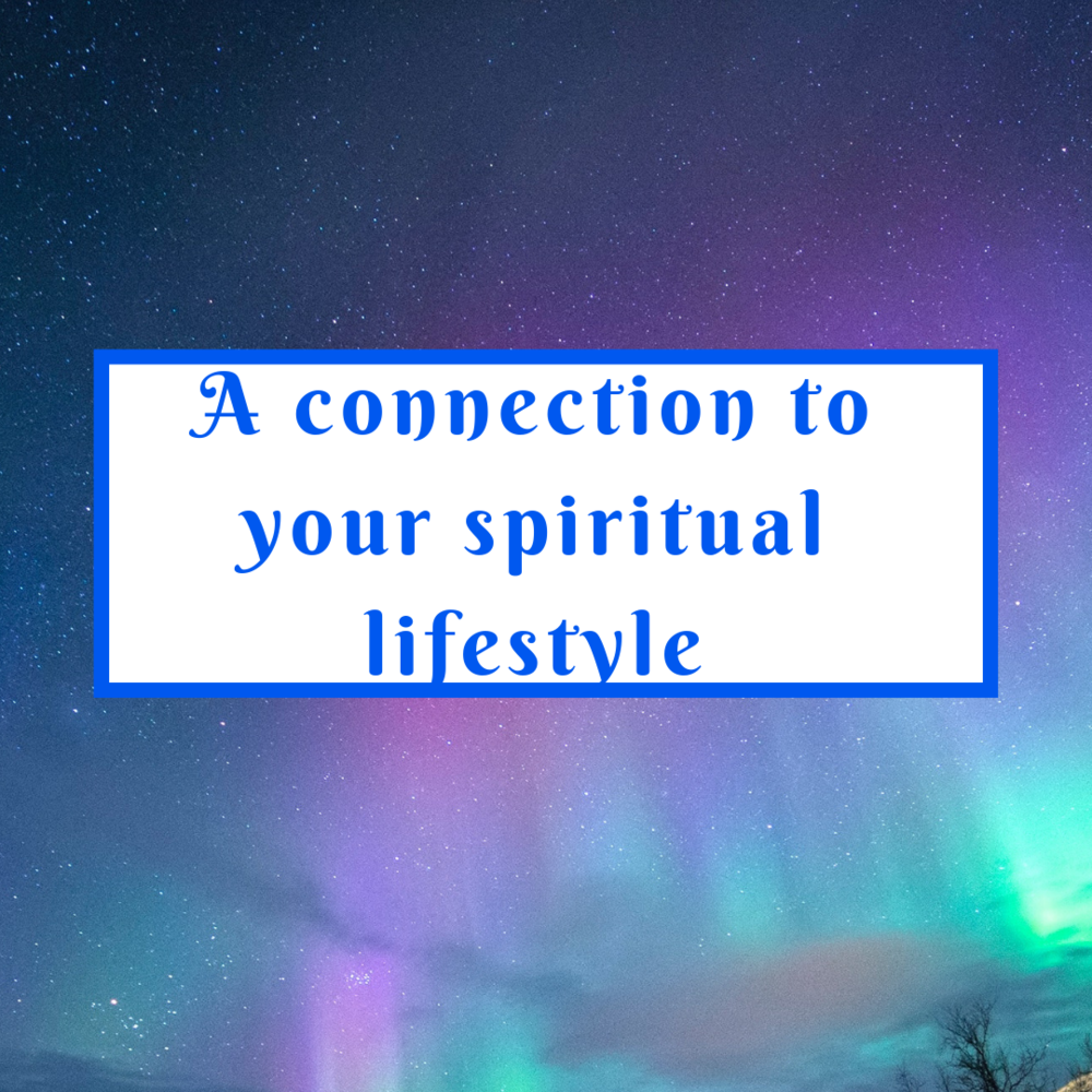 Connect more to what your lifestyle should be.