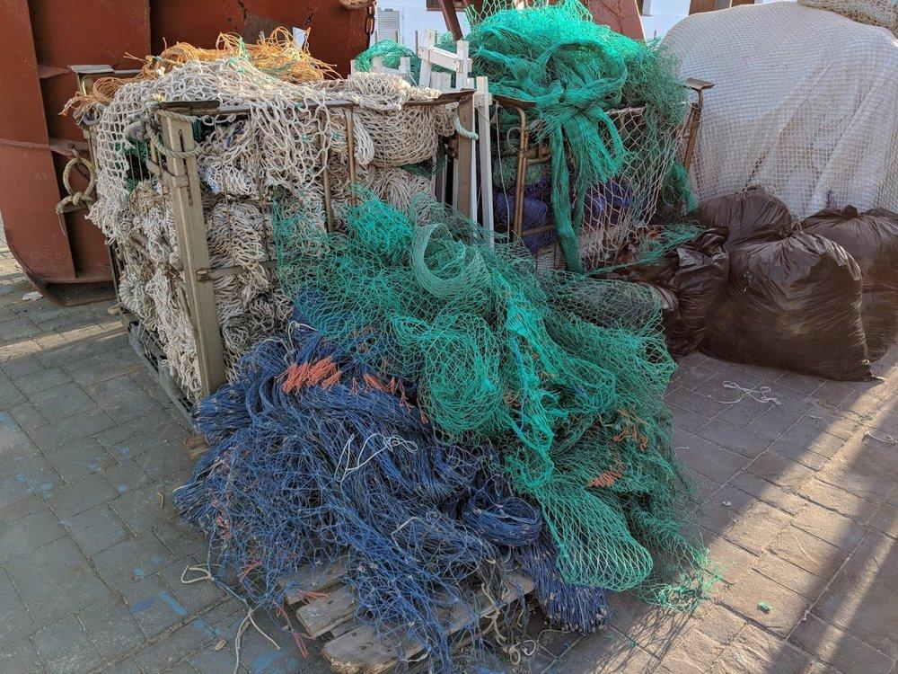 Redes de pesca descartadas