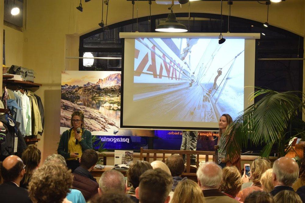 Hablando en Patagonia sobre los miedos y riesgos de cruzar un océano navegando a vela