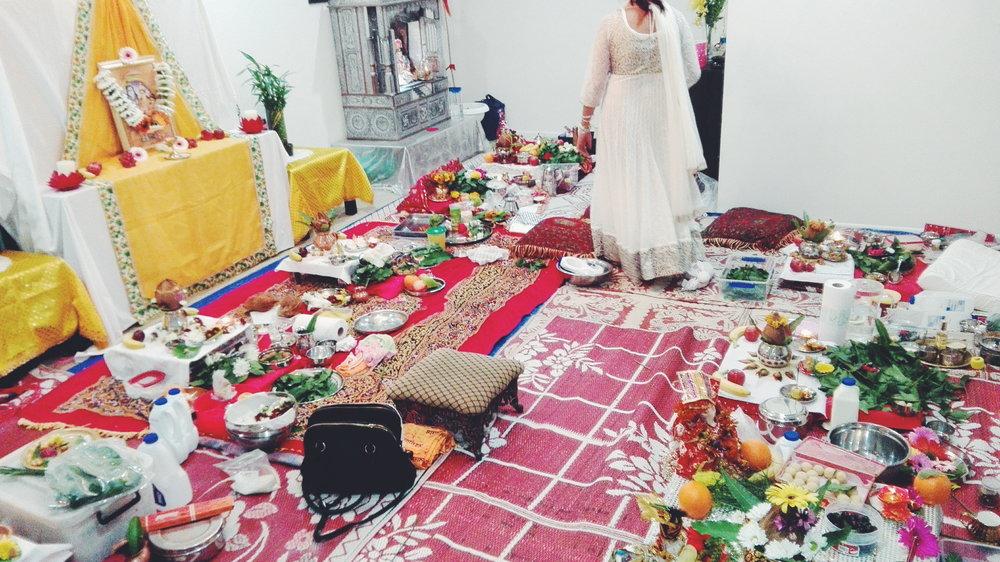 Our beautiful pooja set-up