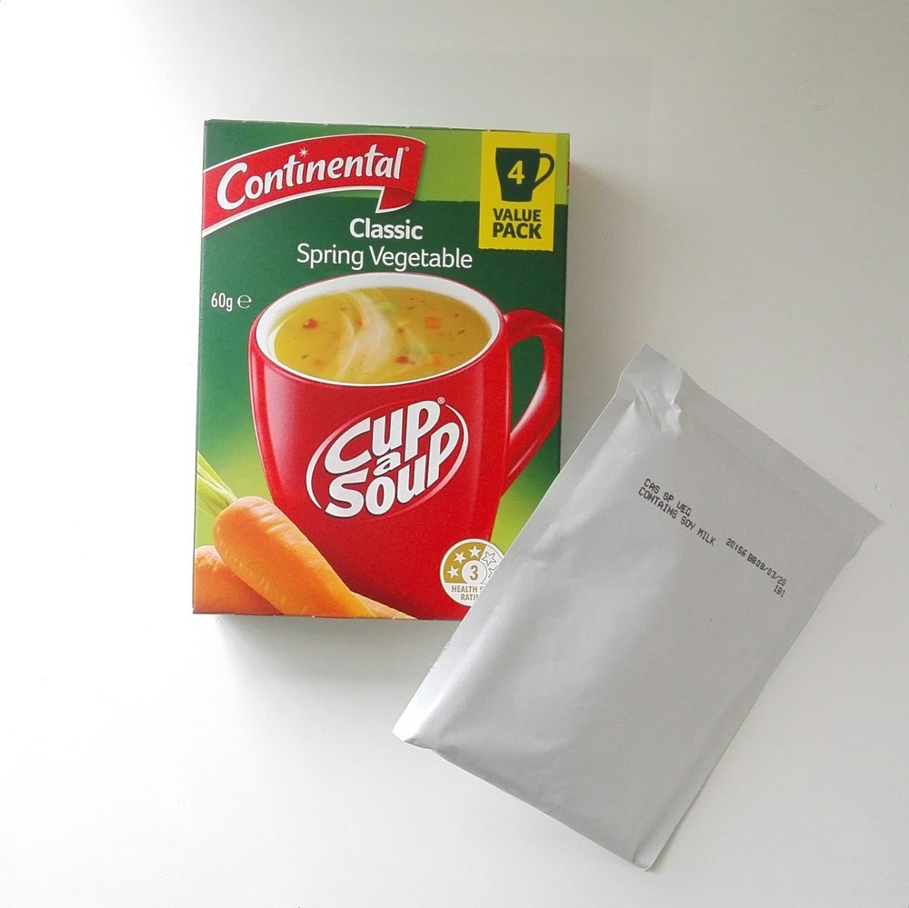 The only flavouring agent is this cup a soup packet. It's that easy.