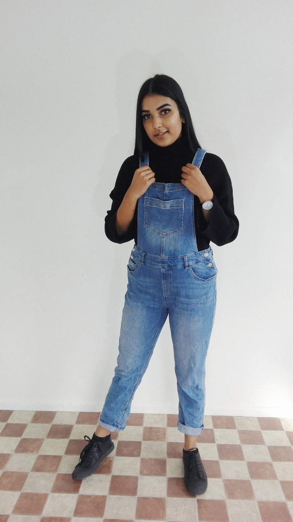 How could I forget overalls. Definitely can wear them in winter with your cozy turtleneck.