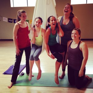Aerial Yoga Private Groups 1.5 hours $35 per person