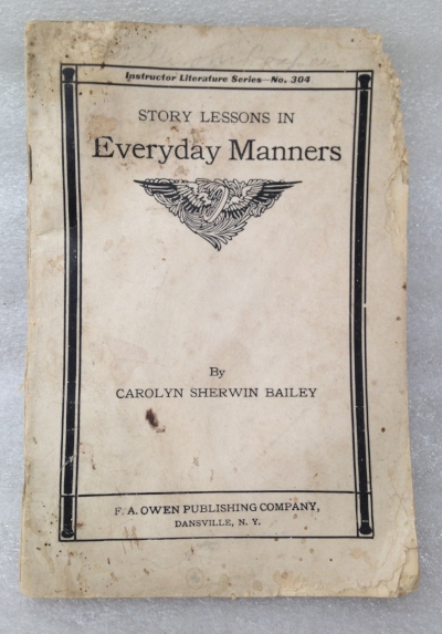 "Record Number: 047 Collection Date: 21 Oct 2017  Description: Paper pamphlet on everyday manner Dimension: 7.25"" x 5.25"""