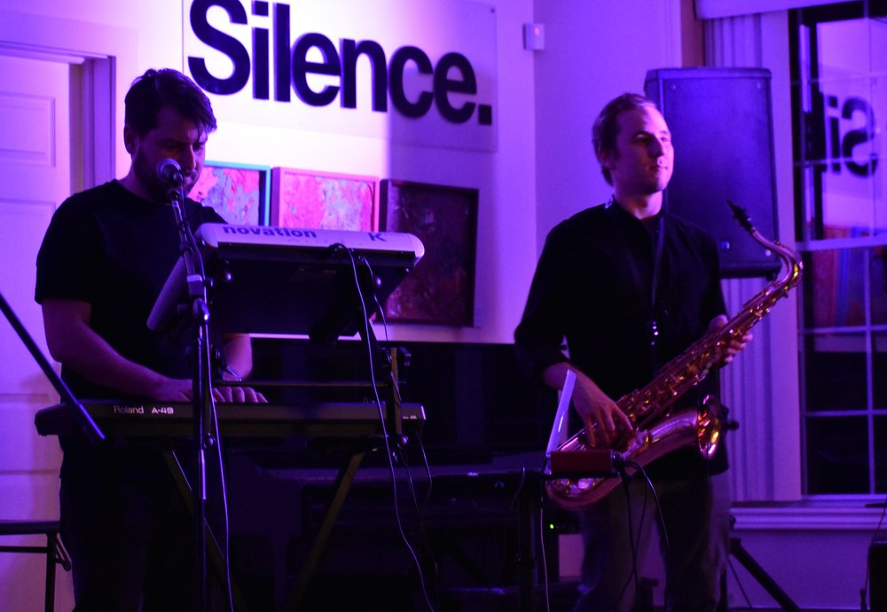 Elliott and Ryan on stage at the gig in Guleph