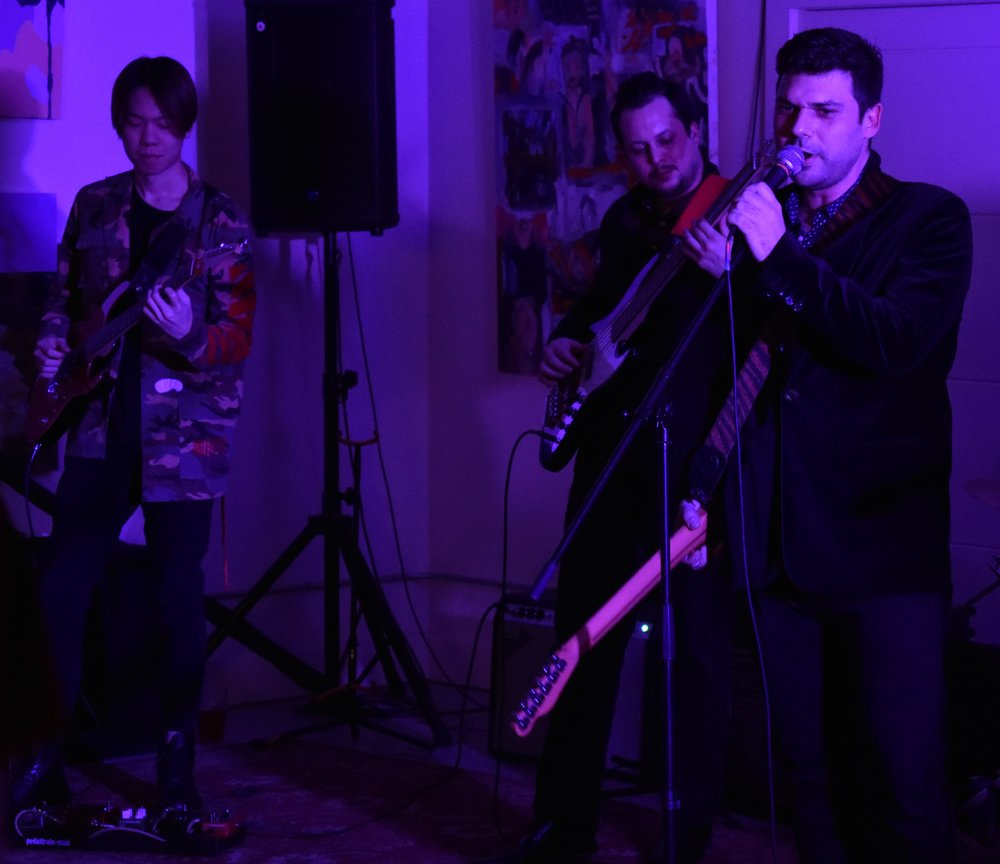 Kennedy, David and Jordin performing at Silence.